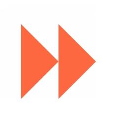 Arrow sign icon circle button fast forward vector