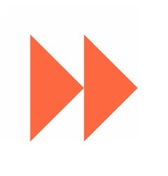 Arrow sign icon circle button fast forward vector image