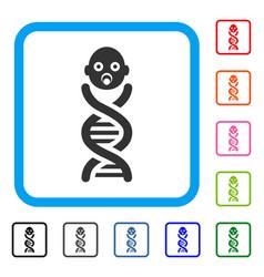 Baby genes framed icon vector
