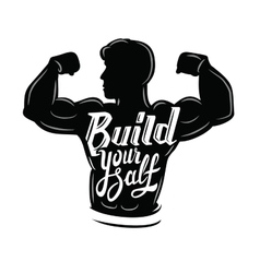 black muscle man vector image