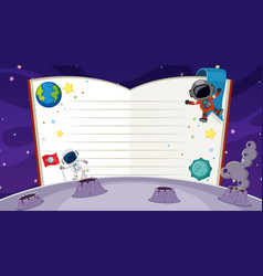 Border template with space theme in background vector