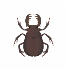 Bug icon cartoon style vector