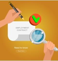 Businessman handshake on contract vector image