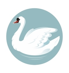 Cartoon swan vector image