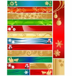 Christmas holiday banners vector image