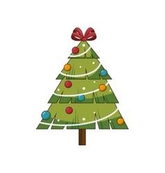 christmas pine tree vector image