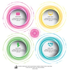 circle colorful can be used for workflow layout vector image