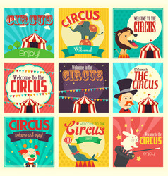 circus icons vector image