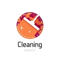 Cleaning service logo symbol vector