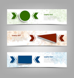 collection banners with colorful geometric vector image