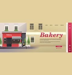 concept banner coffee shop shop interface vector image