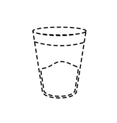 dotted shape water glass to drink and fresh vector image vector image