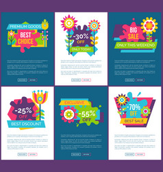 exclusive sale only this weekend promo web pages vector image