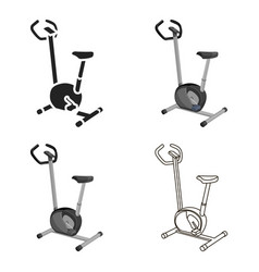 Exercise bike icon cartoon single sport icon from vector