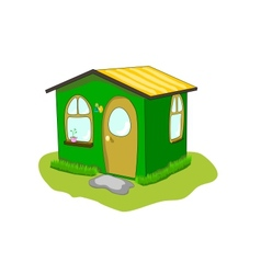 Fantastic green lodge on a white background vector