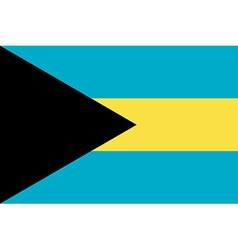 Flag of Bahamas vector image