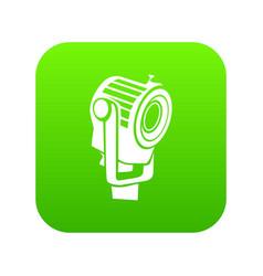 Floodlight icon green vector