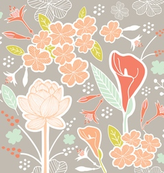 flower pattern set 1A vector image