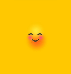 funny laugh yellow 3d smiley face phone background vector image
