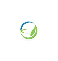green leaf bowl organic logo vector image