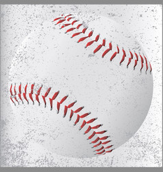grunge baseball vector image