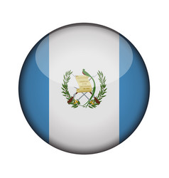 guatemala flag in glossy round button of icon vector image