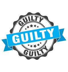 guilty stamp sign seal vector image