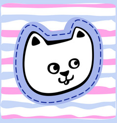 hand drawn doodle cat icon vector image