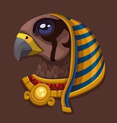 Head symbol of god Ra vector