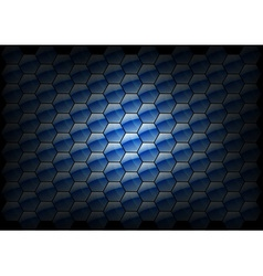 hexagon background blue vector image vector image