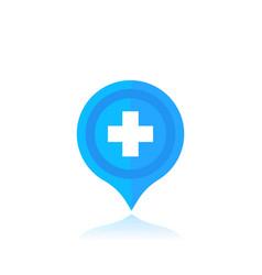 Hospital location marker vector