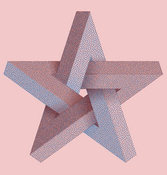 impossible star with black dots impossible star vector image