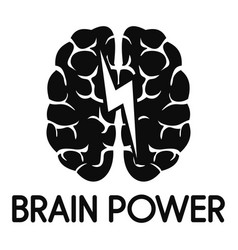 light brain power logo simple style vector image