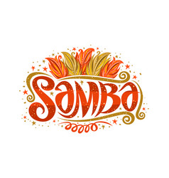 logo for brazilian samba vector image