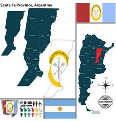 Map of santa fe province argentina vector