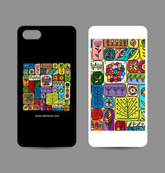 mobile phone design ethnic handmade ornament vector image