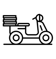 Moto food delivery icon outline style vector