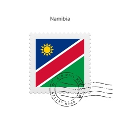 Namibia flag postage stamp vector