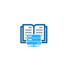 network book logo icon design vector image