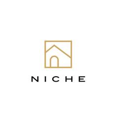 niche door window shape logo icon vector image