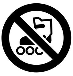 No roller skates forbidden sign modern round vector