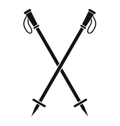 Nord walk sticks icon simple style vector