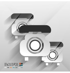 Paper phone design vector image