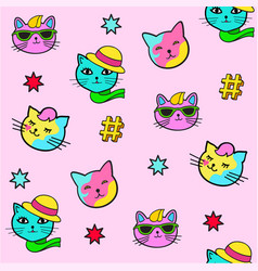 Pop art style stickers vector