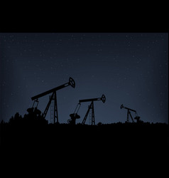 pumpjack production diesel landscape with trees vector image