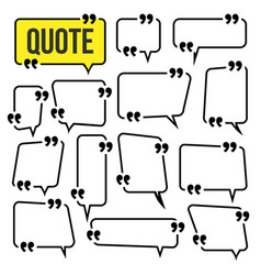 quote frame set website review icon vector image
