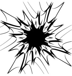 Rough edgy texture of random distorted shapes vector