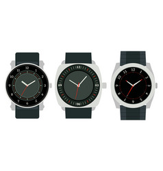 Set of three mechanical watches vector