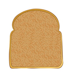 Slice of wholemeal toast with space for text vector