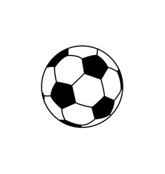 soccer football ball icon vector image